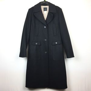 J. Crew Peacoat Long Coat Trench Wool Cashmere